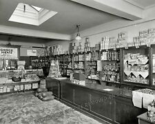 Photograph Vintage Cathedral Mansions Grocery Store 1925c 11x14