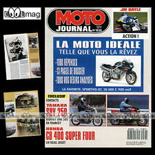 MOTO JOURNAL N°1038 YAMAHA SRV 250 HONDA CB 400 SUPER FOUR GRAND PRIX JEREZ 1992
