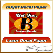 Premium Decalfolie Inkjet oder Laserdrucker, Wasserschiebefolie, Rutenbau, Decal