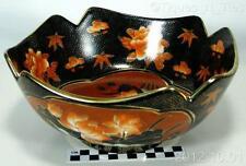 Vintage Zhong Guo Zhi Zao Chinese Western Export Black Lotus Satsuma Bowl (FF)