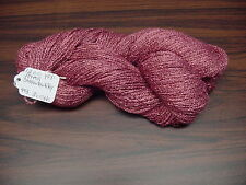 Rayon Boucle Yarn 1200 ypp 1 Skein 4 oz.  300 Yards Color Strawberry.
