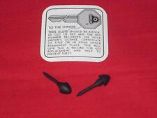 1946 - 1959 Cadillac Glove Box Key Decal & Bumpers