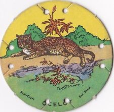 1930's M30 St. Louis Seal Craft Animal Series Disk Ocelot #4