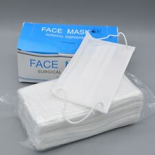 Disposable Face Mask White Breathable for Medical Dental Nail Tattoo Surgical