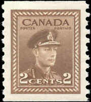 1948 Mint Canada VF Scott #279 2c Coil War Issue Stamp Hinged
