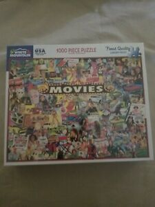 White Mountain~The Movies~New 1000 Piece Jigsaw Puzzle - Nice - Great Buy!