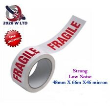 Printed Fragile Parcel Packing Tape 48mm*66m*46mic, Strong, Low Noise