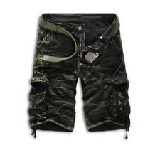 Men's Summer Combat Camo Casual Overall Shorts Military Army Cargo Sports Pants