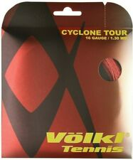 VOLKL CYCLONE TOUR TENNIS STRING 1.30MM 16G - ONE 12M SET - RED - RRP £15