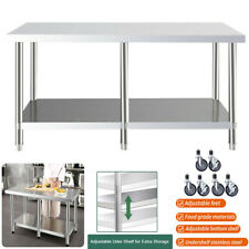 More details for 6ft commercial stainless steel catering prep table work bench kitchen worktop uk