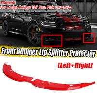 RED Front Bumper Lip Splitter Spoiler For Dodge Charger SRT Scat Pack 2015-2019