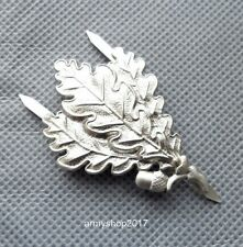 WW2 GERMAN ARMY SNIPER OAK LEAF METAL CAP BADGE