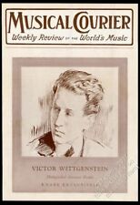 1920 Victor Wittgenstein portrait Musical Courier framing cover