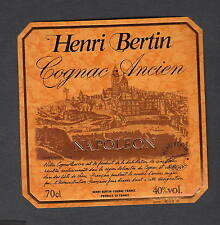 Ancienne étiquette   Alcool  Cognac Henri Bertin Napoléon