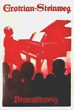 Original vintage poster GROTRIAN-STEINWEG PIANOS c.1960 Hohlwein