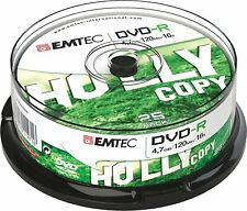 1x25 EMTEC DVD-R WriteOnce 4.7GB 16x Cakebox (ECOVR472516CB) NEU (world*)005-950