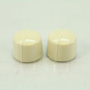 2 Cooper Almond Replacement Knob for Rotary Combo Fan Control Dimmer RKRC-A-BP