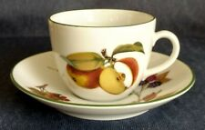 "Royal Worcester ~ ""Evesham Vale"" ~ FLAT CUPS and SAUCERS ~ Buy by the Piece"