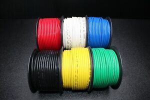 10 GAUGE WIRE PICK 3 COLORS 25 FT EACH HOOK UP AWG STRANDED COPPER PRIMARY