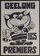 1925 Geelong Cats Premiers Weg Poster Premiership Premiership Grand Final