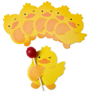 50PCS Ducks Candy Lollipop Decor Cards Wedding & Birthday Party Gift AccessoJO