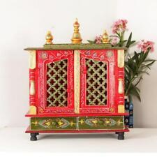 Home Mandir Pooja Ghar Mandapam for Worship Wooden Handcrafted Hindu Temple KI13
