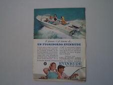 advertising Pubblicità 1958 MOTORI FUORIBORDO EVINRUDE