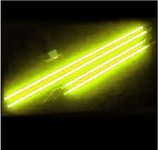 Yellow 4PC Neon Undercar Underbody Glow Lights Tubes Car Truck NEW 3FT 4FT