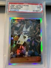 1996 Topps Chrome Karl Malone #178 Utah Jazz  Refractor PSA 9 Mint SET BREAK!