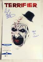 DAVID HOWARD THORNTON SIGNED 11x17 PHOTO ART THE CLOWN TERRIFIER BAS COA 304