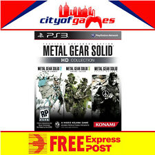 METAL GEAR SOLID HD COLLECTION PS3 BRAND NEW & SEALED Free Express Post