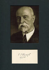 Tomas Masaryk CZECH autograph, signed card mounted