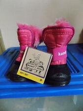 NWT Toddler Girls Child Pink Kamik Snugbug Fur Lined Snow Boots Sz 5 Warm & Cute