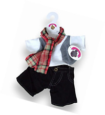Build Your Bears Wardrobe 15-Inch Clothes Fit Build Bear Checked Scarf Outfit