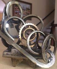 CUSTOM MADE ONE OF A KIND HEAVY METAL RING/GEAR MODERN ART SCULPTURE