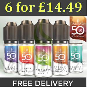 Vapouriz 50/50 E-liquid Vape 5050 *6x10ml for £14.49*  - 1st Class Delivery