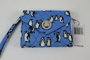Vera Bradley PLAYFUL PENGUINS BLUE - YOUR TURN SMARTPHONE WRISTLET New with Tags
