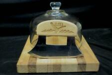 Alaska Cheese Cutting Wooden Board & Cutter w/ Glass Top
