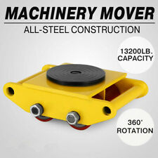 6 Ton Heavy Duty Machine Dolly Skate Machinery Roller Mover Cargo Trolley US