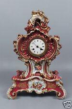 Best Antique 19th C Signed Jacob Petit Paris Porcelain Mantle Clock 4 Repair Pc