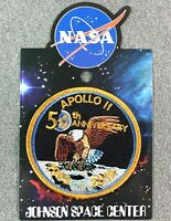 NASA APOLLO 11 50TH ANNIVERSARY PATCH Official Authentic SPACE 3.5""