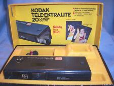 Kodak Tele-Ektralite 20 2x Telephoto 24mm-44mm Dual Lens 110 Film Flash Camera