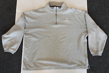 PORT AUTHORITY SIGNATURE MENs 2XL GRAY FLEECE PULLOVER JACKET w/ NAPA AUTO PARTS
