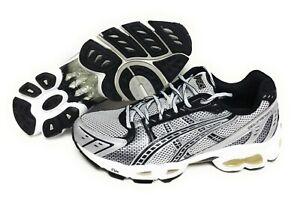 Mens Asics Gel Frenzy T90CQ 0191 White Black Running Sneakers Shoes