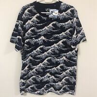 UNIQLO Hokusai Blue Katsushika Fugaku UT MEN'S Graphic T-Shirt Tops Navy XS-XL