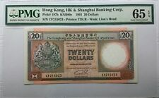 "PMG 1991 x 2, Hong Kong HSBC ""Lucky Number Series"", 20 & 10 Dollars Banknote"