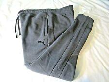 PUMA Cotton Joggers Lounge Sweatpants Joggers Dark Gray Men's Extra Large XL