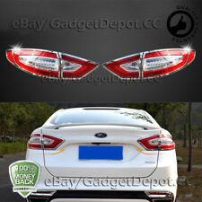 For 2013 2014 2015 2016 FORD FUSION Chrome Tail light Cover Bezel Molding & Trim