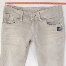 Ladies Womens G-Star FENDER SKINNY WMN Stretch Grey Jeans W31 L34 UK Size 12