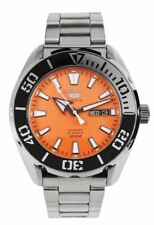 Seiko 5 Sports Stainless Steel Orange Dial Automatic Mens Watch SRPC55K RRP £269